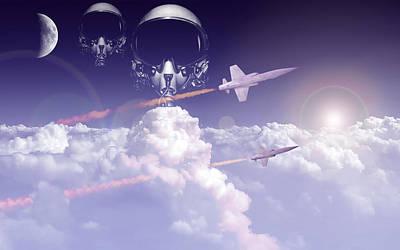 Airplane Digital Art - Jet Fighter by Super Lovely