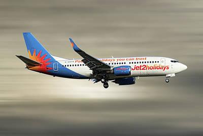 Mixed Media - Jet2 Boeing 737-33v by Smart Aviation