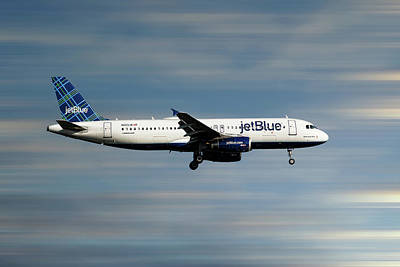 Mixed Media - Jetblue Airways Airbus A320-232 by Smart Aviation