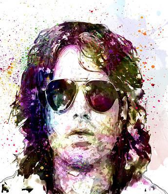 Jim Morrison Art Print by Elena Kosvincheva