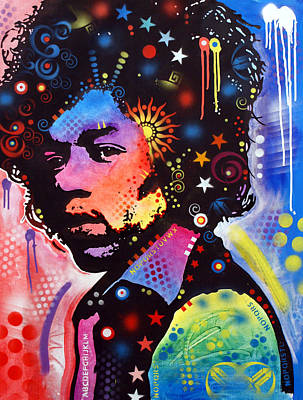 Art Print featuring the painting Jimi Hendrix by Dean Russo
