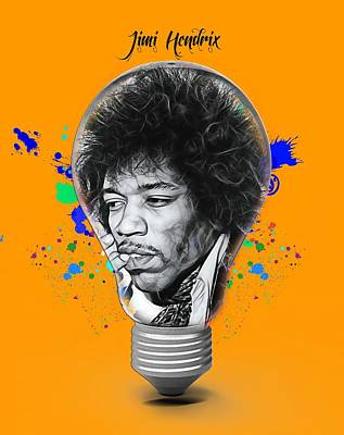 Poster Mixed Media - Jimi Hendrix Electric by Marvin Blaine