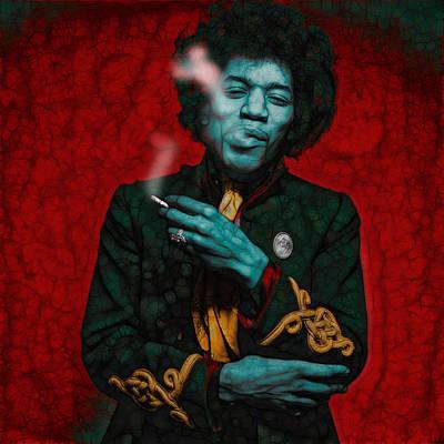 Mixed Media - Jimmie Hendrix by ML Walker