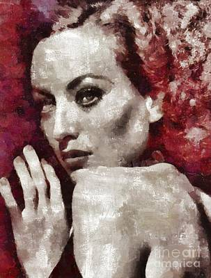 Musicians Royalty-Free and Rights-Managed Images - Joan Crawford Hollywood Actress by Mary Bassett