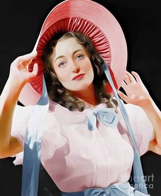 Painting - Joan Crawford, Vintage Movie Star by John Springfield