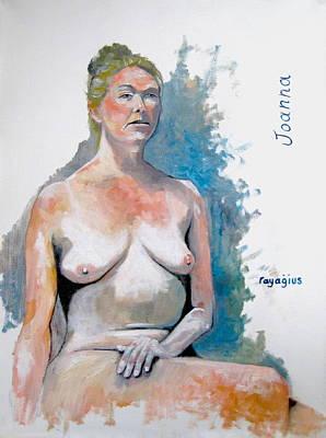 Painting - Joanna by Ray Agius