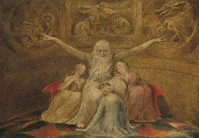 Painting - Job And His Daughters by William Blake