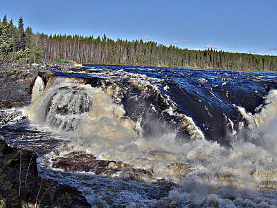 Photograph - Jockfall, Waterfall In The North Of Sweden by Tamara Sushko