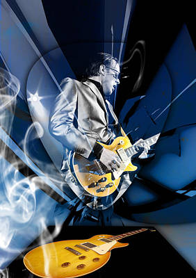 Joe Bonamassa Blues Guitarist Art Art Print by Marvin Blaine