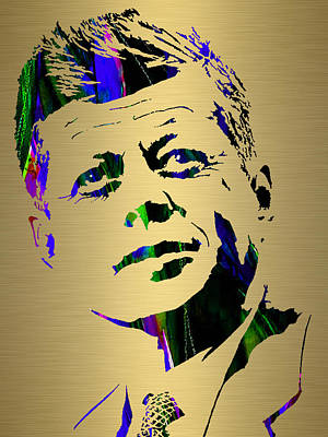 Mixed Media - John Fitzgerald Kennedy by Marvin Blaine