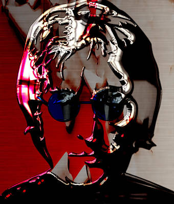 Mixed Media - John Lennon Art by Marvin Blaine