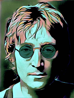 Painting - John Lennon Portrait by Gary Grayson