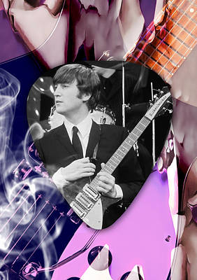 Mixed Media - John Lennon The Beatles by Marvin Blaine