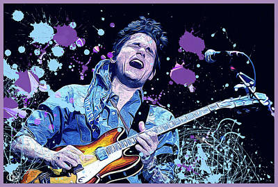 Digital Art - John Mayer by Hay Rouleaux