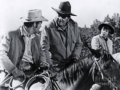 Rooster Photograph - John Wayne - True Grit by The Titanic Project