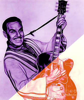 Music Mixed Media - Johnny Otis Collection by Marvin Blaine