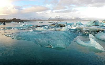 Photograph - Jokulsarlon The Glacier Lagoon, Iceland 2 by Dubi Roman