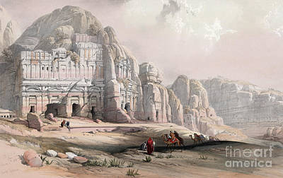 Drawing - Jordan, Petra, 1839 by Granger