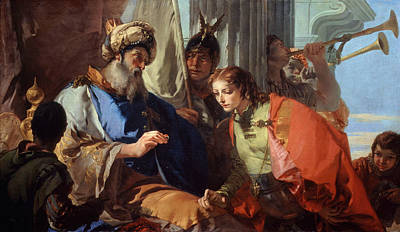 Painting - Joseph Receiving Pharaoh's Ring by Giovanni Battista Tiepolo
