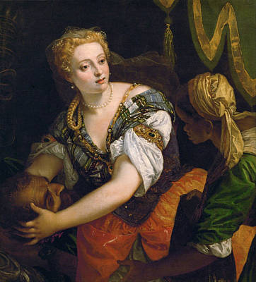 Beheading Painting - Judith With The Head Of Holofernes by Paolo Veronese