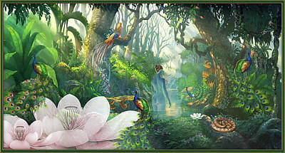 Digital Art - Jungle Song by Harald Dastis