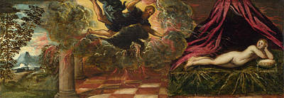 Greek Painting - Jupiter And Semele by Tintoretto