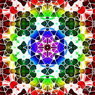 Flutter Digital Art - Kaleidoscop by Michal Boubin