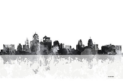 Kansas City Missouri Skyline Art Print