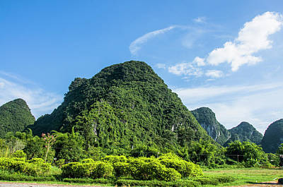 Karst Mountains Scenery Art Print