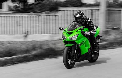 Blackandwhite Photograph - Kawasaki Ninja by Andrea Mazzocchetti