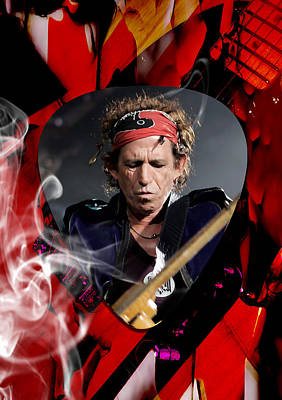 Musician Mixed Media - Keith Richards Art by Marvin Blaine
