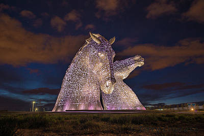 Photograph - Kelpies by Terry Cosgrave