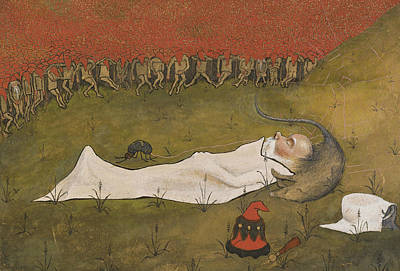Painting - King Hobgoblin Sleeping by Hugo Simberg