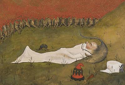 Painting - King Hobgoblin Sleeping by Hugo Simberg