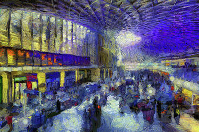 Mixed Media - Kings Cross Rail Station London Art by David Pyatt