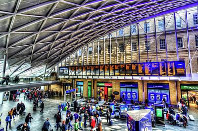 Photograph - Kings Cross Rail Station London by David Pyatt