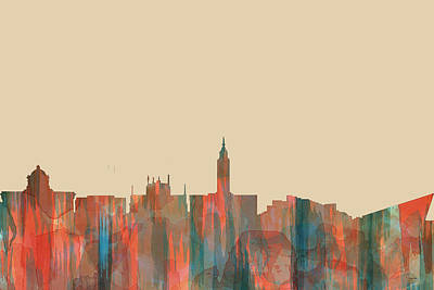 Digital Art - Kingston Upon Hull England Skyline by Marlene Watson