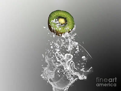 Kiwi Mixed Media - Kiwi Splash by Marvin Blaine