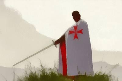 Patriotism Painting - Knights Templar by Pierre Blanchard