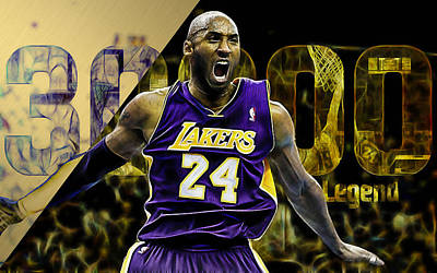 Kobe Bryant Collection Art Print