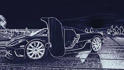 Digital Art - Koenigsegg Ccx  by PixBreak Art