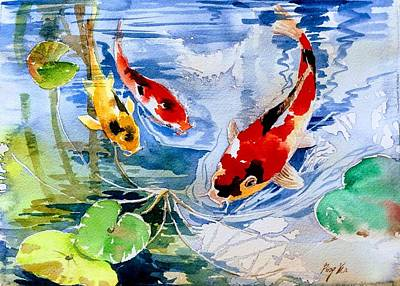 Painting - Koi Pond by Ping Yan