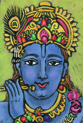 Religious Mixed Media - Krishna by Jennifer Mazzucco
