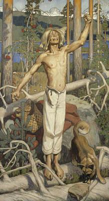 Painting - Kullervo Cursing by Akseli Gallen-Kallela