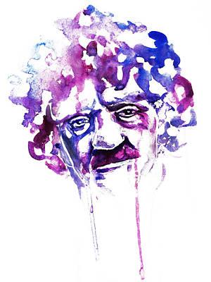 Painting - Kurt Vonnegut by Alexandra-Emily Kokova