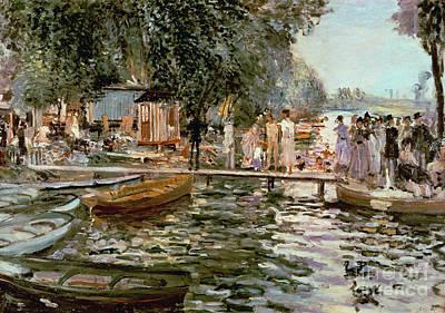 Pleasure Painting - La Grenouillere by Pierre Auguste Renoir