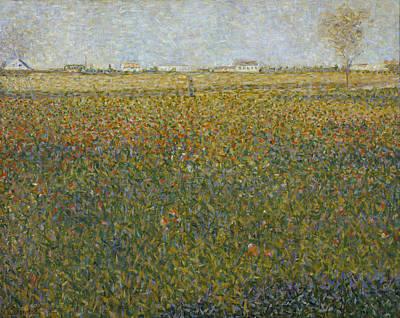 View Painting - La Luzerne, Saint-denis by Georges Seurat