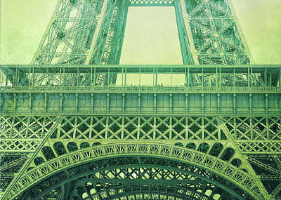 Photograph - La Tour Eiffel Greens by JAMART Photography