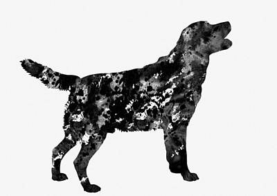 Labrador Digital Art - Labrador Retriever-black by Erzebet S