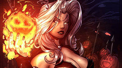 Curve Digital Art - Lady Death by Super Lovely